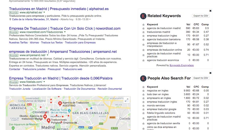 keywords-everywhere-google