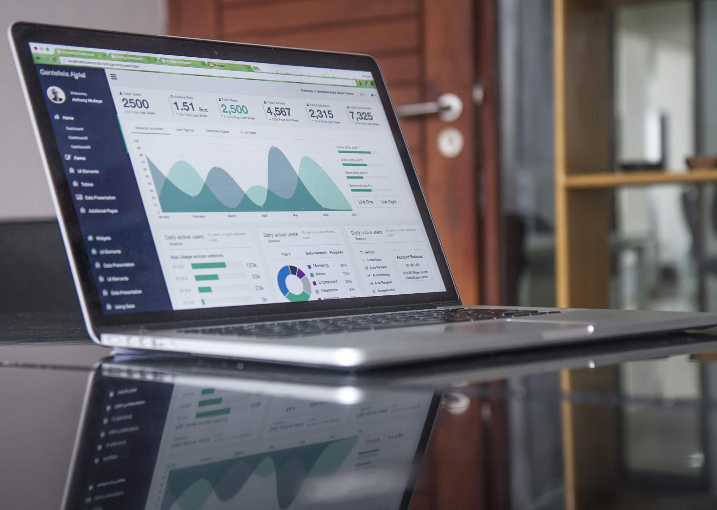 ordenador analizando velocidad de carga web o page speed